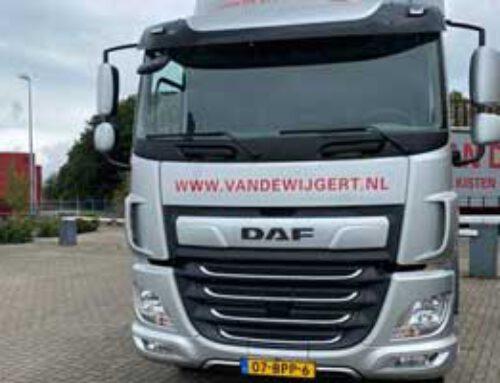 Nieuwe vrachtwagen in gebruik
